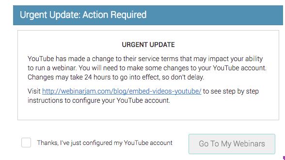 Service Alert: Important Information About Your WebinarJam Account