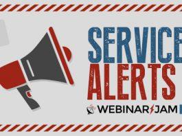 WebinarJam Service alert