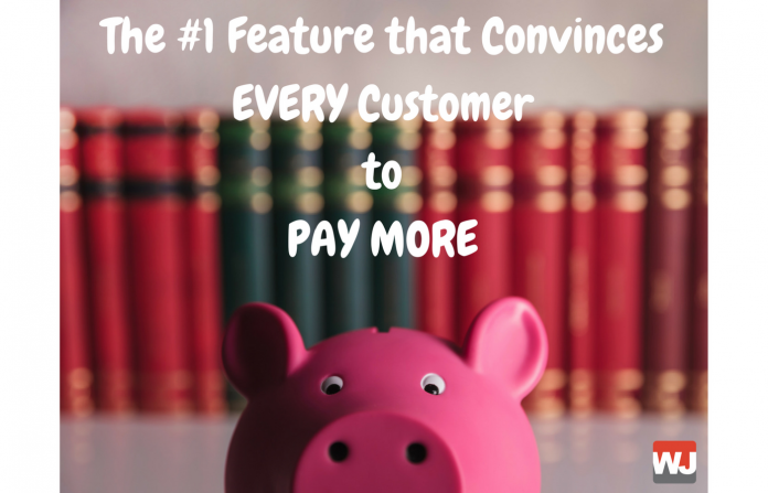 There is ONE reason that will make a customer pay more for your product than another of equal value.